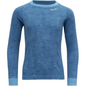 Devold Duo Active Camiseta Niños, azul